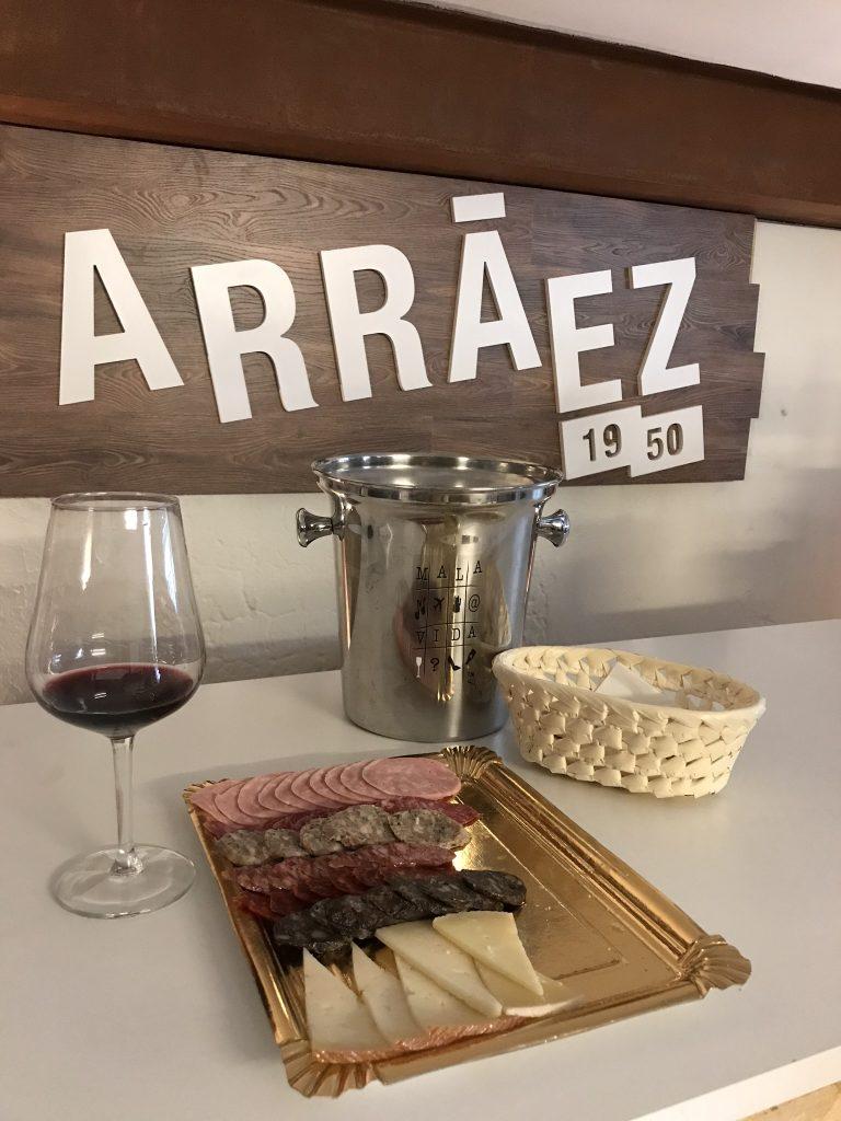 Charcuterie tray at Arráez